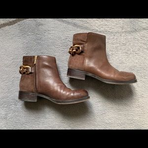 Brown Leather Chain detail  Boots
